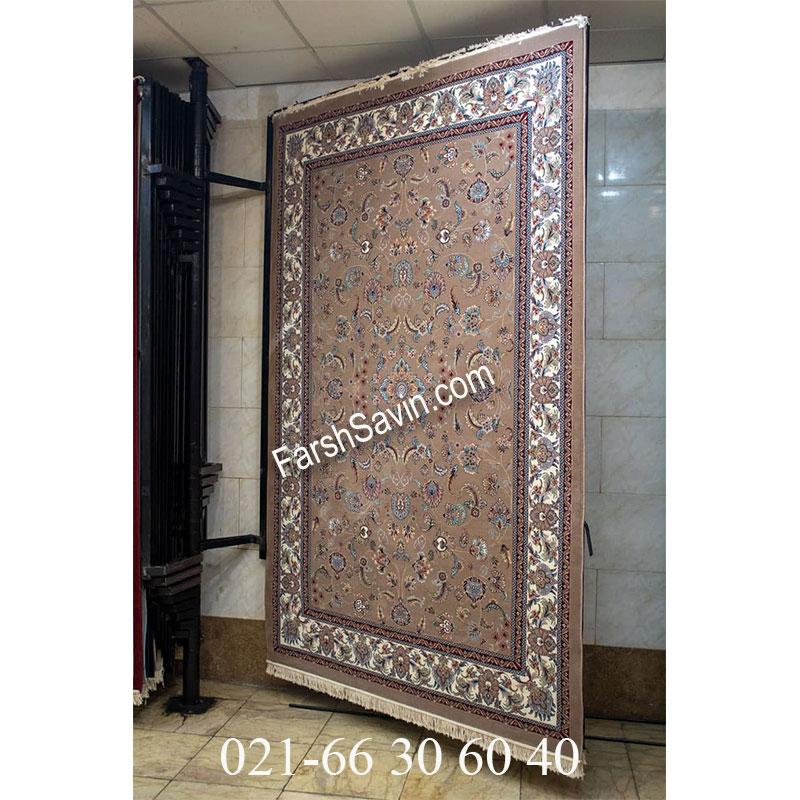 فرش ساوین 4501 شتری فرش با دوام