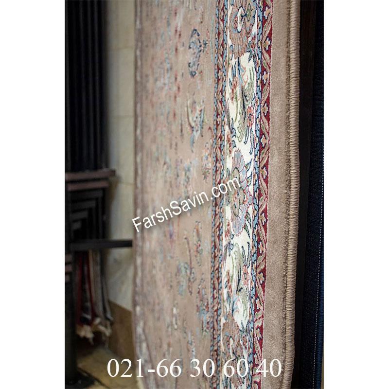 فرش ساوین 4501 شتری فرش زیبا