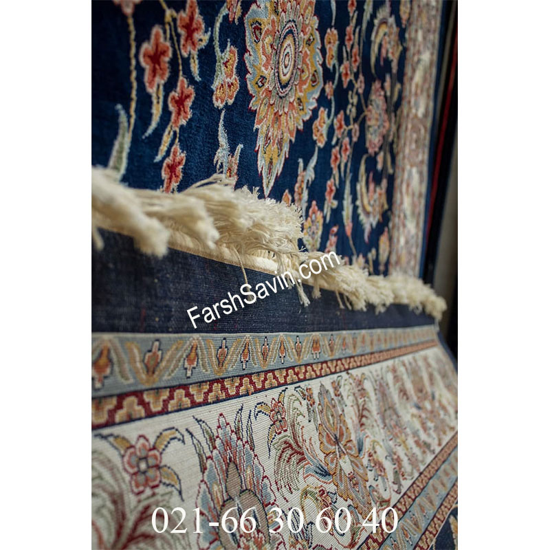 فرش ساوین 4501 سرمه ای فرش با کیفیت