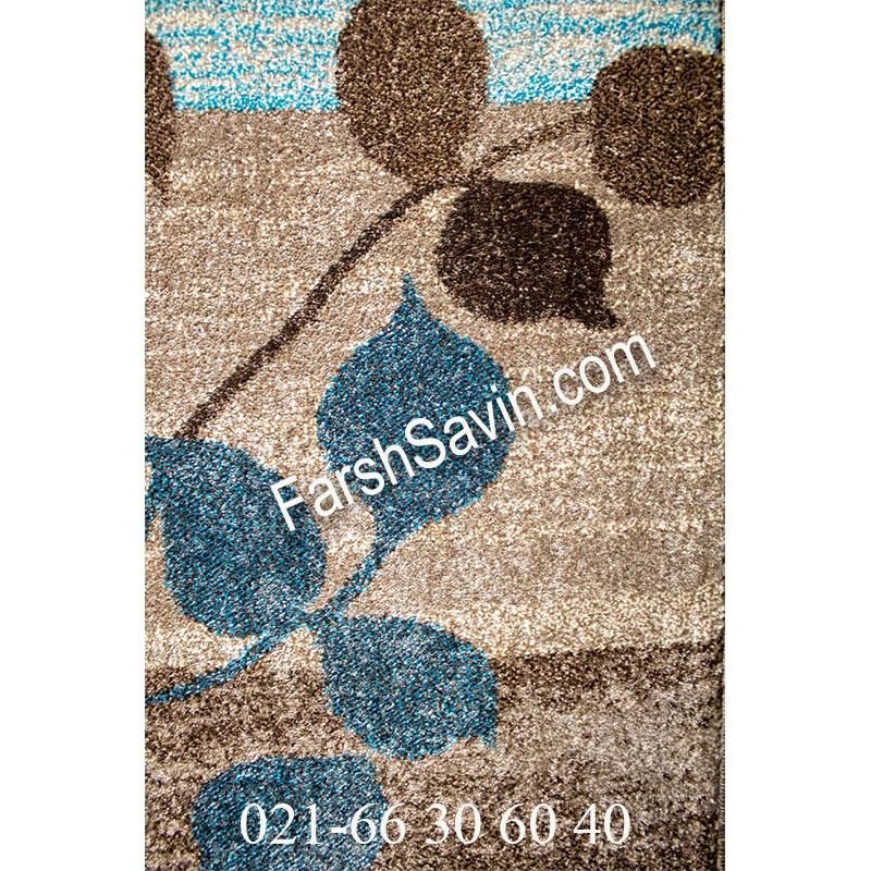 فرش ساوین 4001 شکلاتی فرش شیک