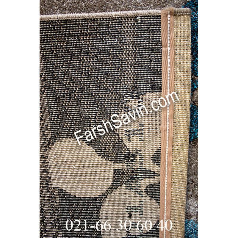 فرش ساوین 4001 شکلاتی فرش اصیل