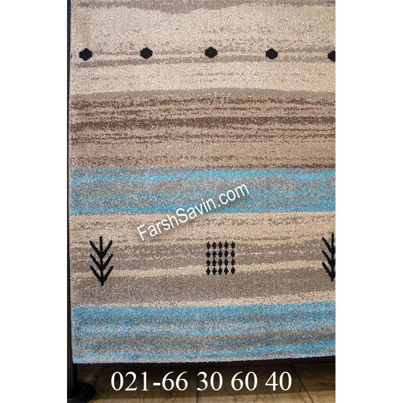فرش ساوین 4002 شکلاتی فرش پرفروش