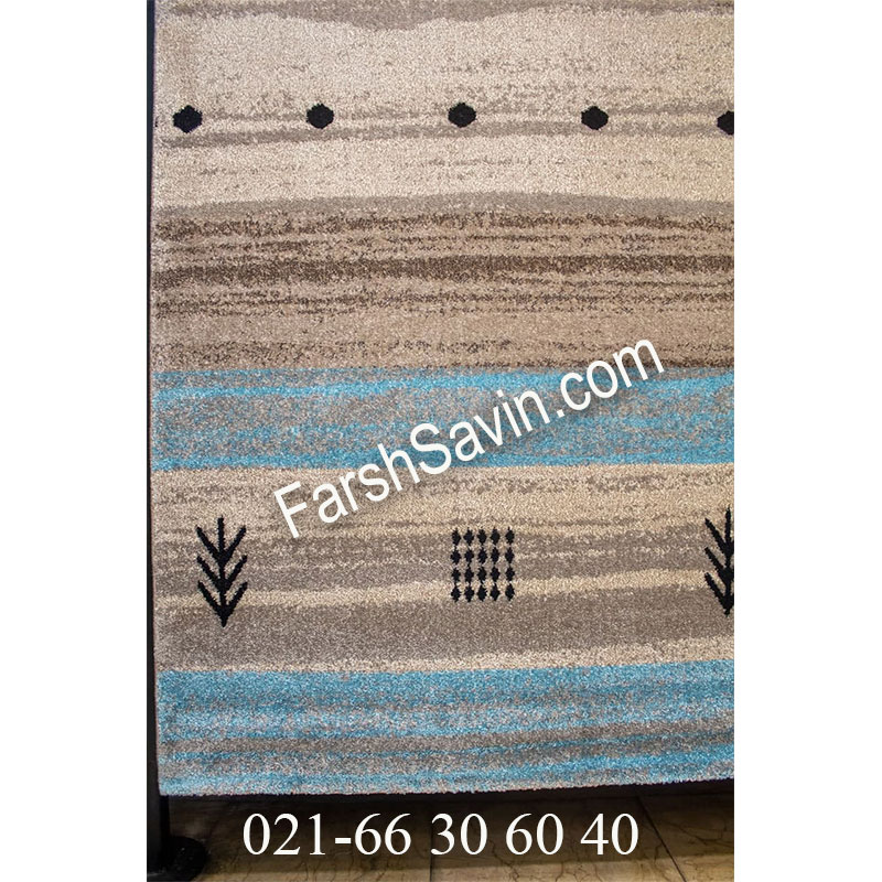 فرش ساوین 4002 شکلاتی فرش زیبا