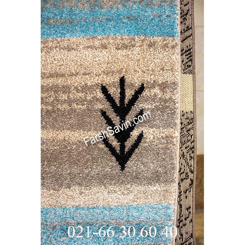 فرش ساوین 4002 شکلاتی فرش با دوام