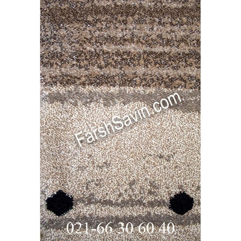 فرش ساوین 4002 شکلاتی فرش مدرن