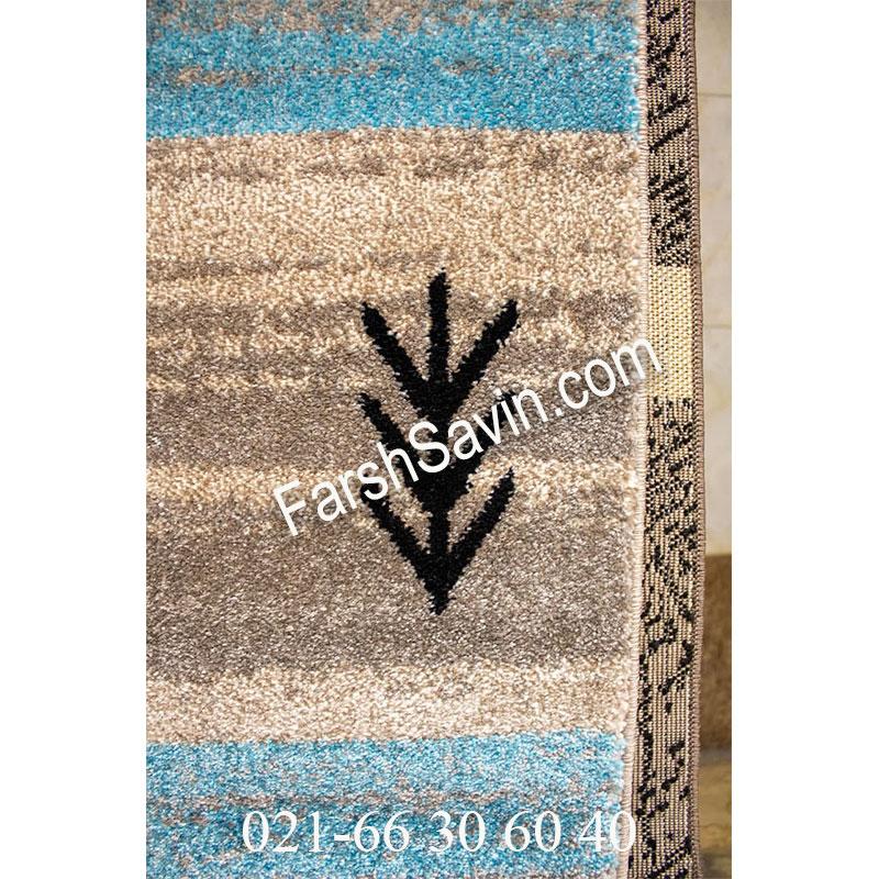 فرش ساوین 4002 شکلاتی فرش ارزان