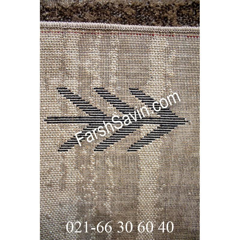 فرش ساوین 4002 شکلاتی فرش خوش نقش
