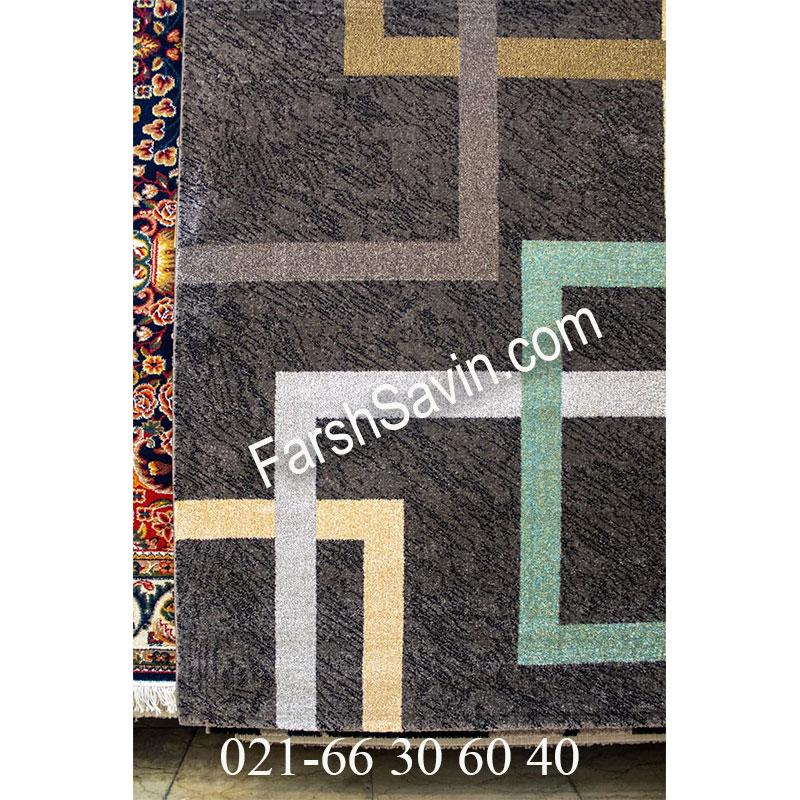فرش ساوین 4003 نسکافه ای فرش خوش نقش