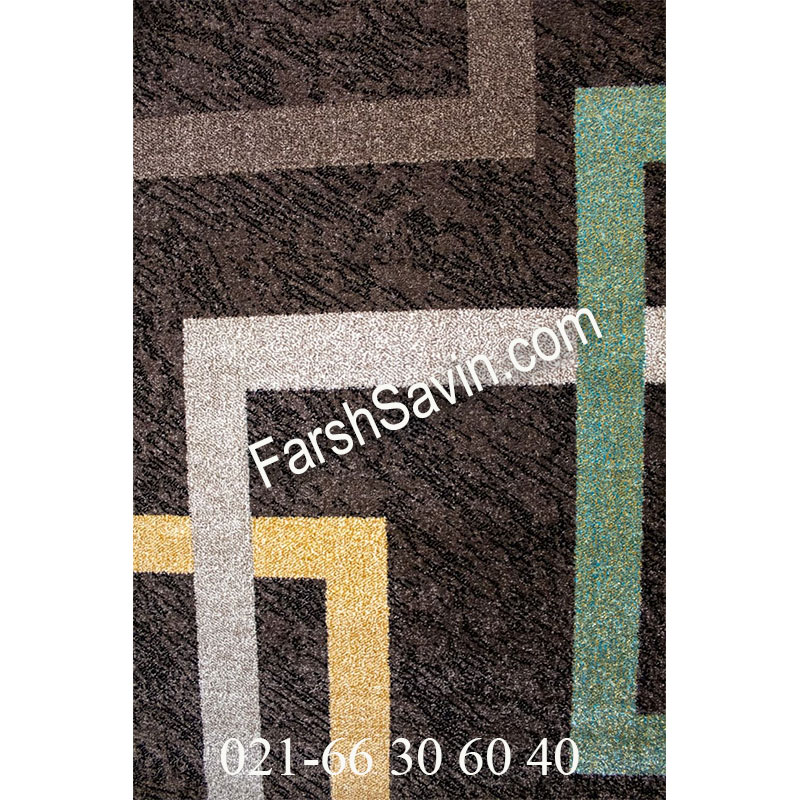 فرش ساوین 4003 نسکافه ای فرش ارزشمند