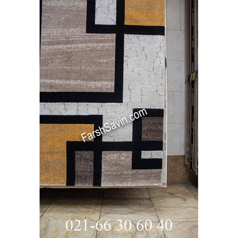 فرش ساوین 4004 کرم فرش مدرن