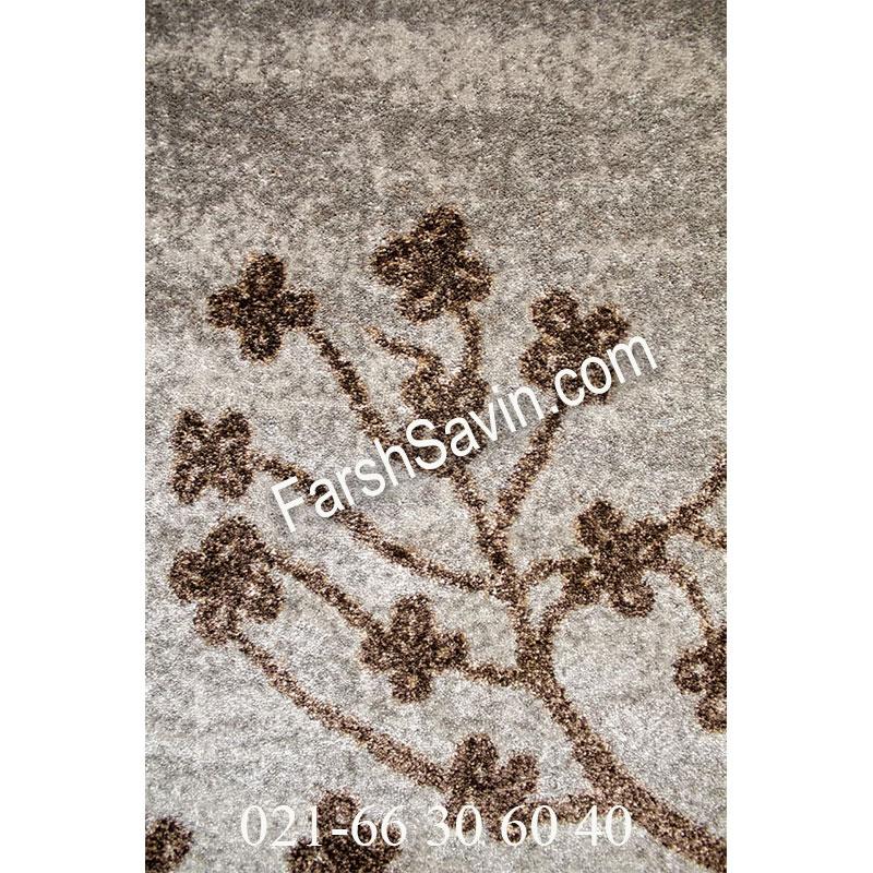 فرش ساوین 4006 نقره ای فرش مدرن