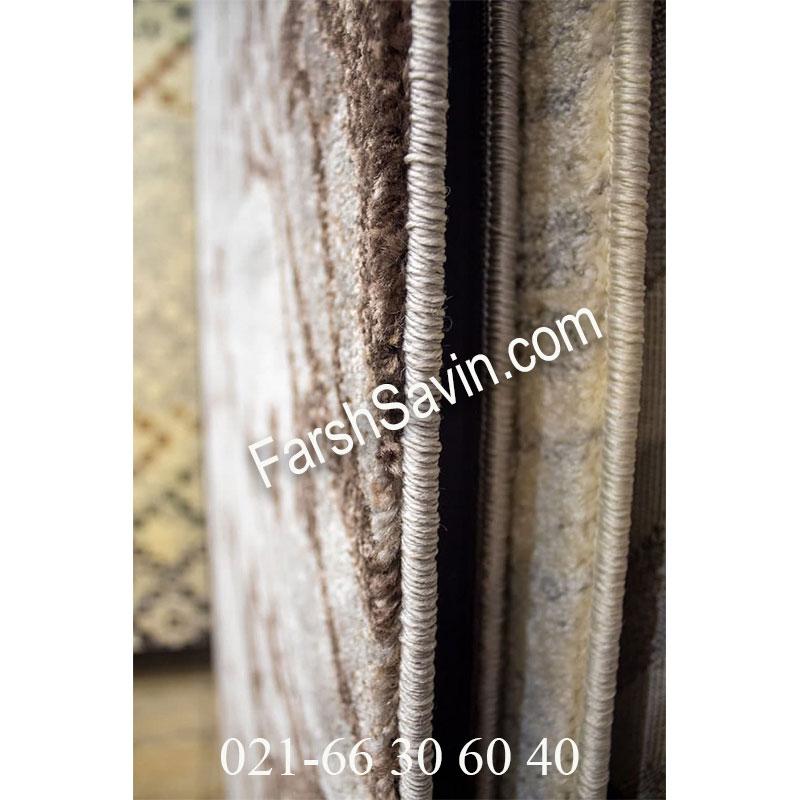 فرش ساوین 4006 نقره ای فرش اصیل