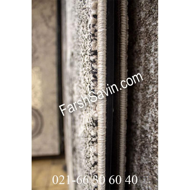 فرش ساوین 4010 مشکی فرش ارزان