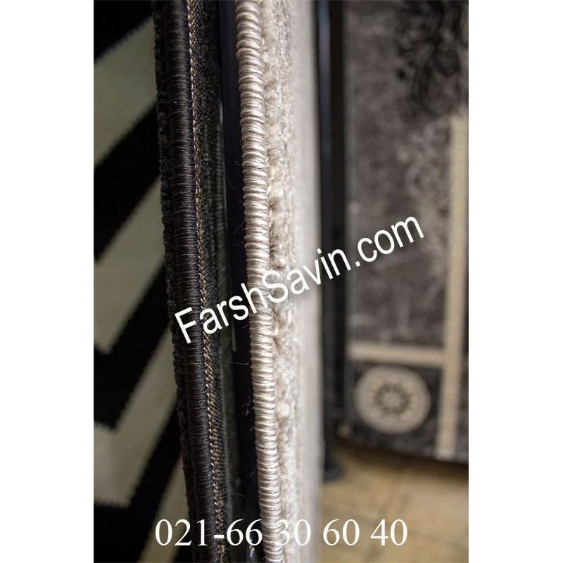 فرش ساوین 4010 نقره ای فرش شیک