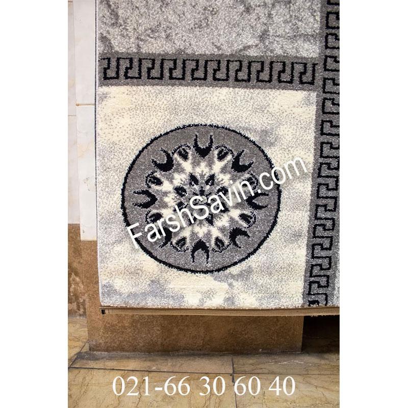 فرش ساوین 4010 نقره ای فرش فانتزی