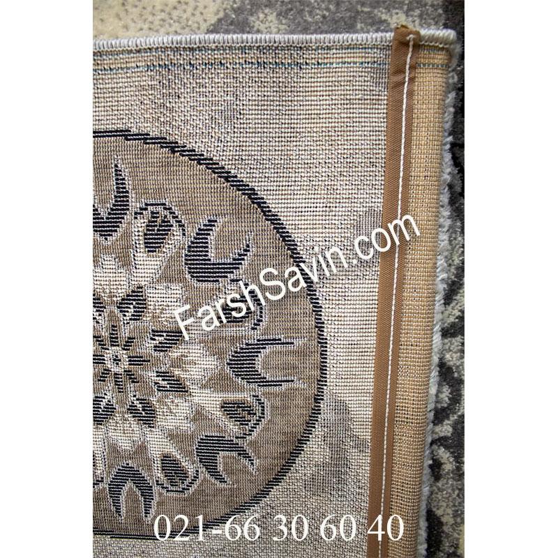 فرش ساوین 4010 نقره ای فرش پرفروش