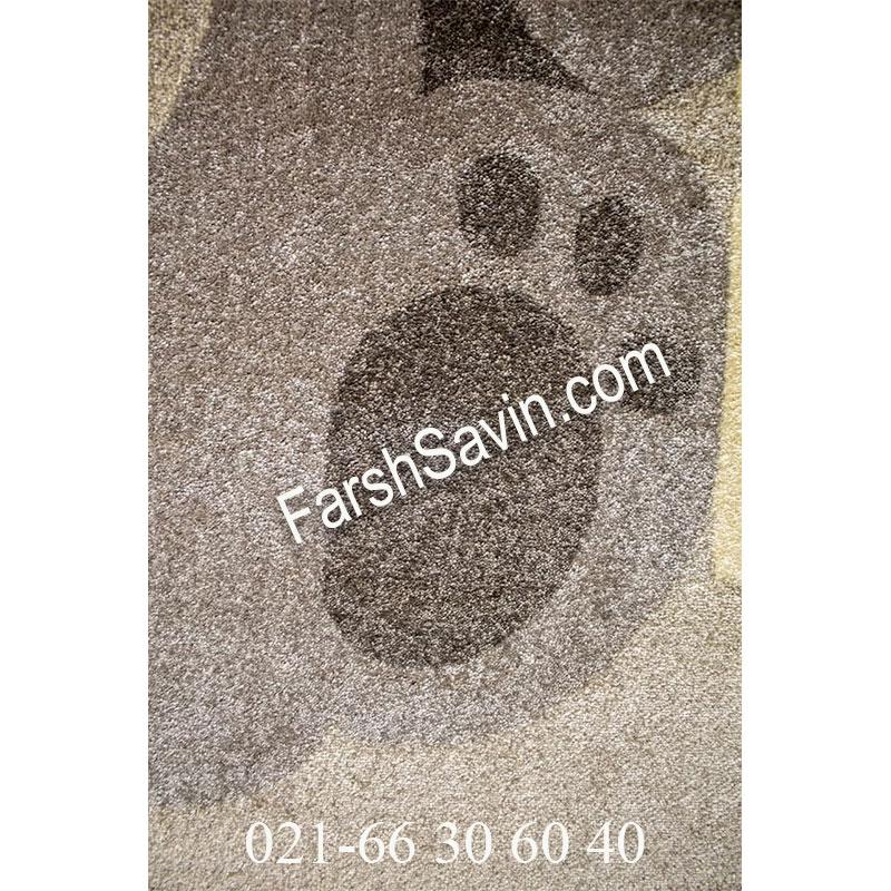 فرش ساوین 4035 کرم فرش کودک