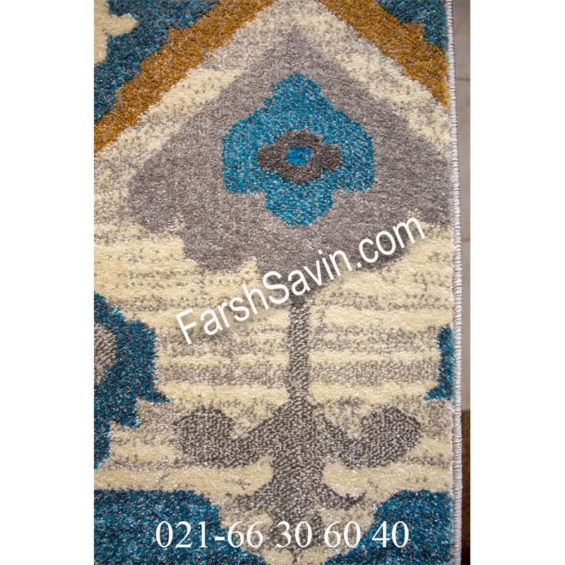 فرش ساوین 4033 کرم فرش پذیرایی