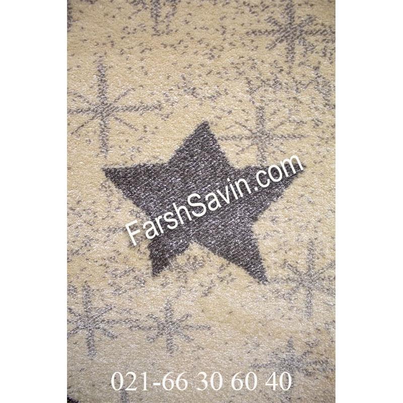 فرش ساوین 4035 کرم فرش مدرن