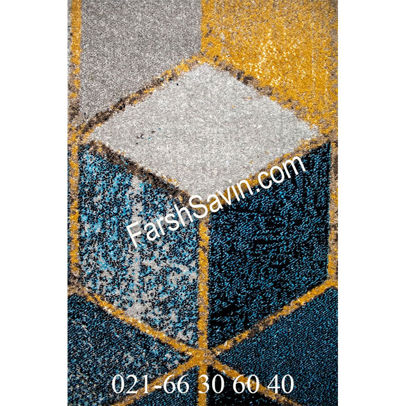 فرش ساوین 4043 مشکی فرش ارزان