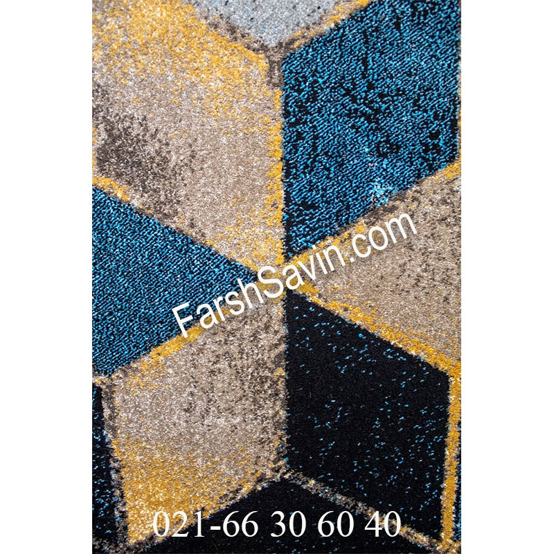 فرش ساوین 4043 مشکی فرش خوش نقشه