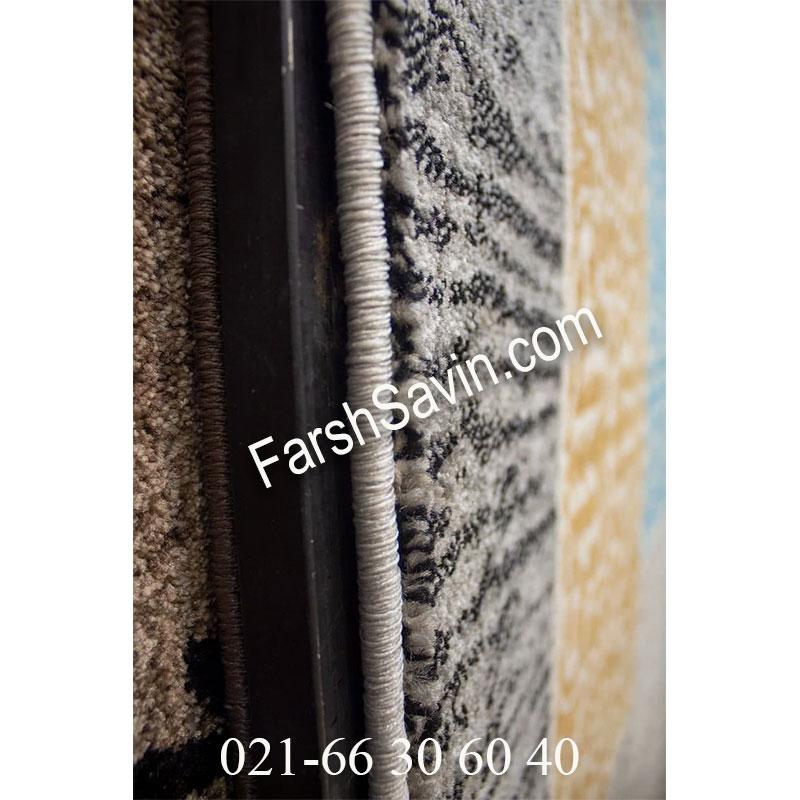 فرش ساوین 4044 طوسی فرش بدون گل