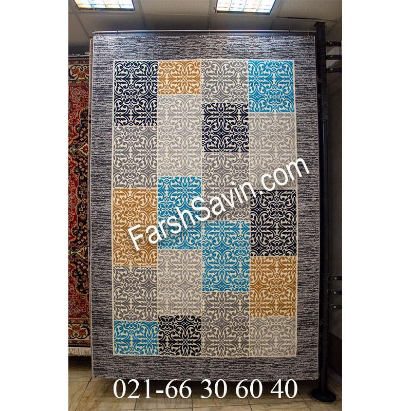فرش ساوین 4044 طوسی فرش خوشگل