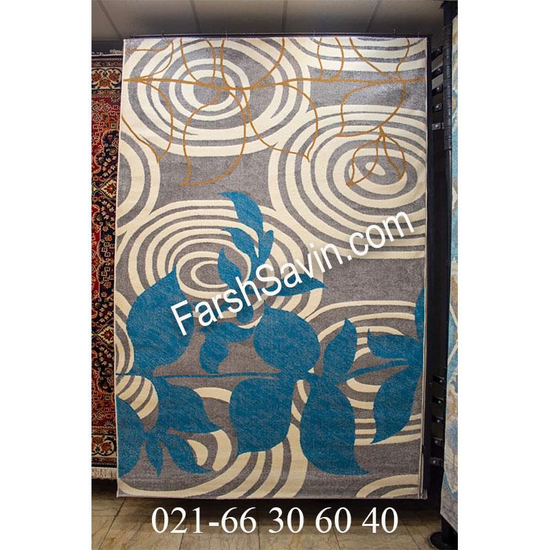 فرش ساوین فرش 4050 نقره ای فرش پذیرایی