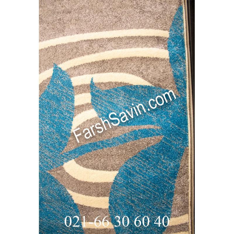 فرش ساوین فرش 4050 نقره ای فرش فانتزی