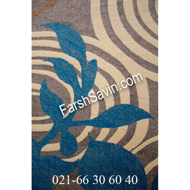 فرش ساوین فرش 4050 نقره ای فرش مدرن