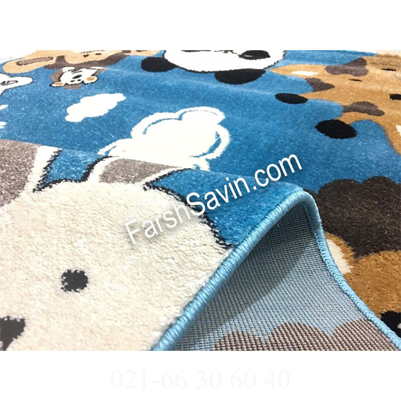 فرش ساوین 4058 آبی فرش پرفروش