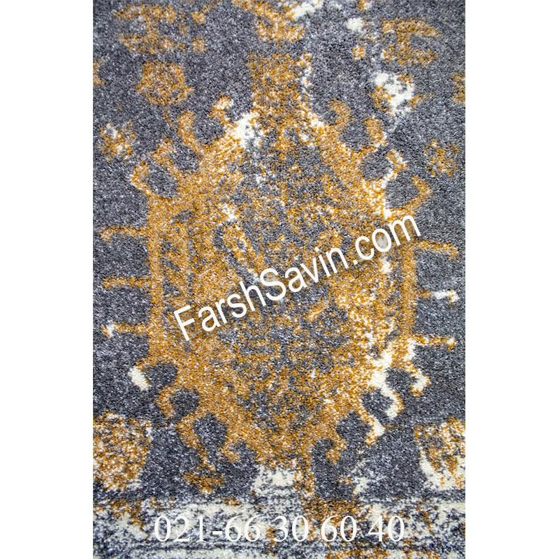 فرش ساوین 4061 طوسی فرش ارزان