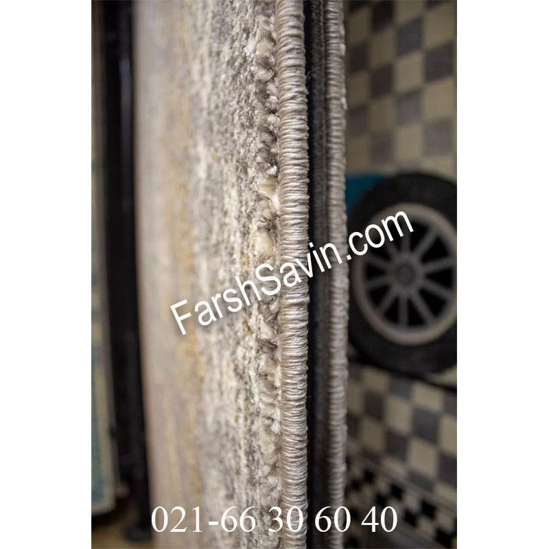 فرش ساوین 4061 طوسی فرش با کیفیت