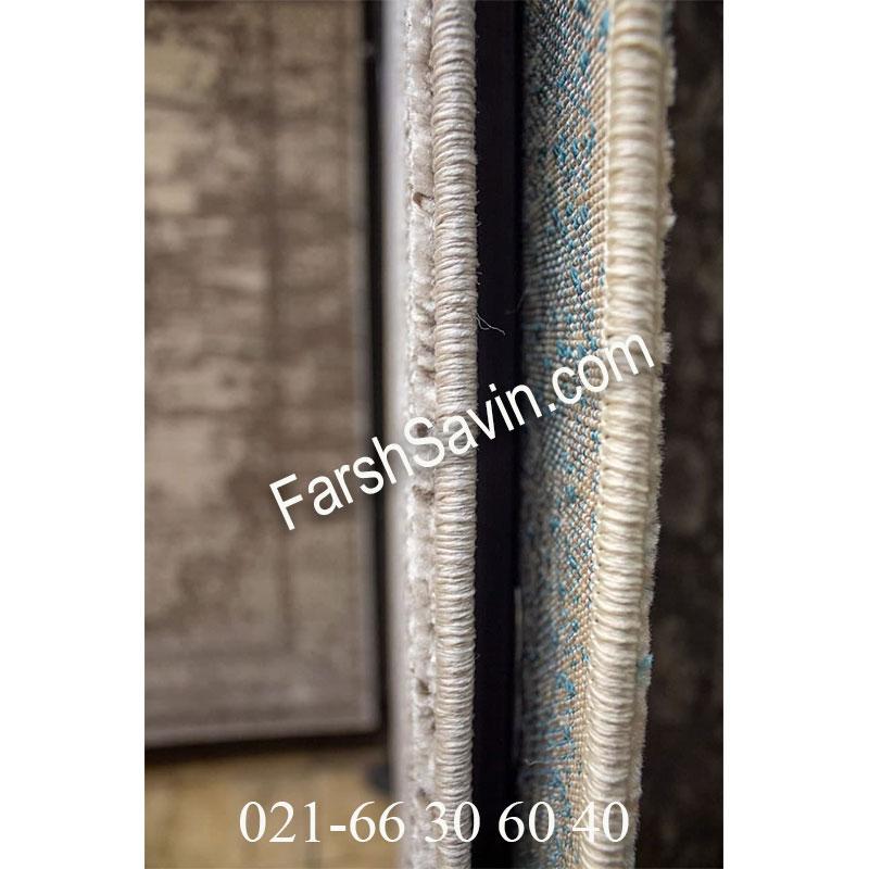 فرش ساوین 4062 نقره ای مشکی فرش پذیرایی