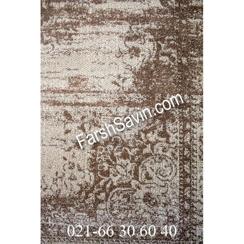 فرش ساوین 4062 نقره ای فرش ارزان