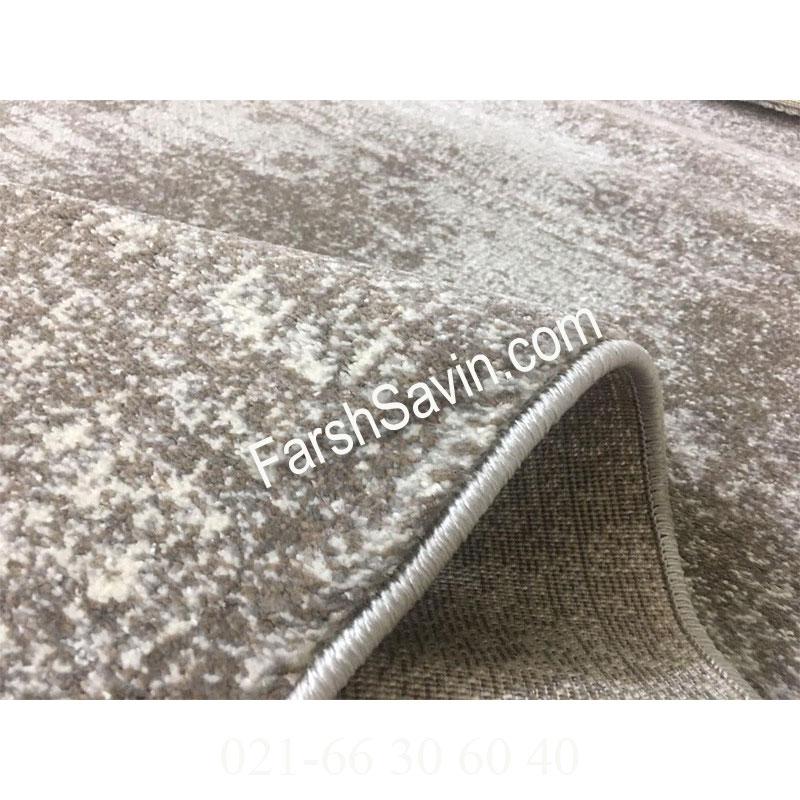 فرش ساوین 4062 نقره ای فرش خاص