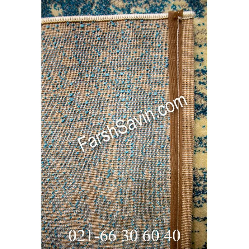 فرش ساوین 4062 کرم فرش اتاق پذیرایی