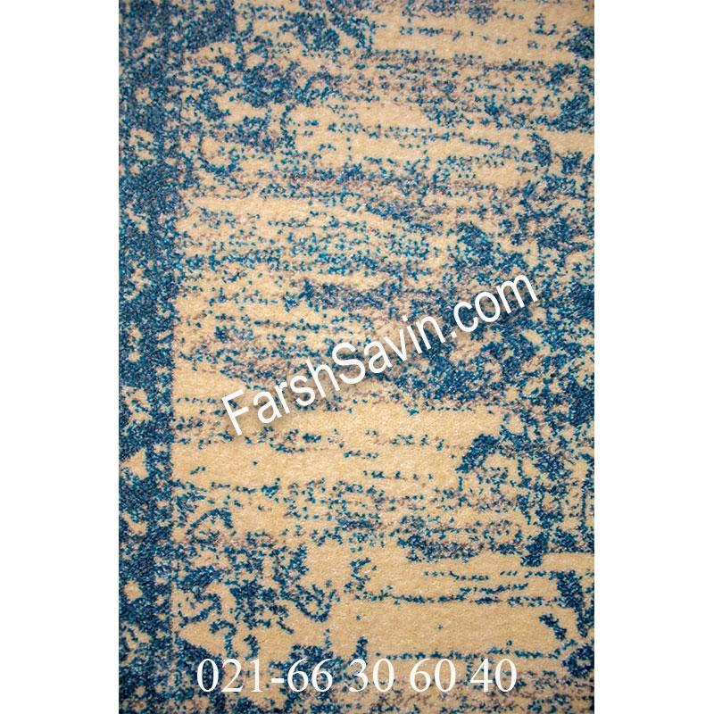 فرش ساوین 4062 کرم فرش خوش رنگ