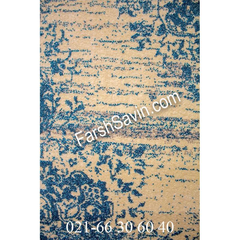 فرش ساوین 4062 کرم فرش خوش نقشه