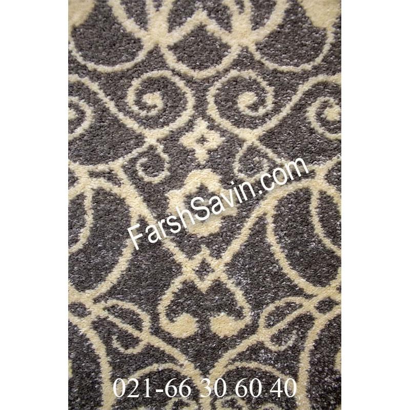 فرش ساوین 4069 طوسی فرش با کلاس