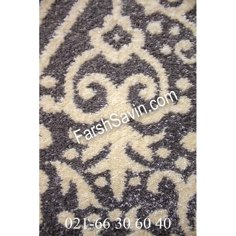 فرش ساوین 4069 طوسی فرش خاص