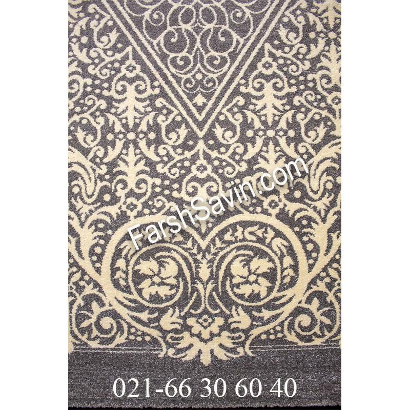 فرش ساوین 4069 طوسی فرش زیبا