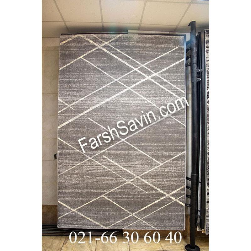 فرش ساوین 4083 طوسی فرش خاص