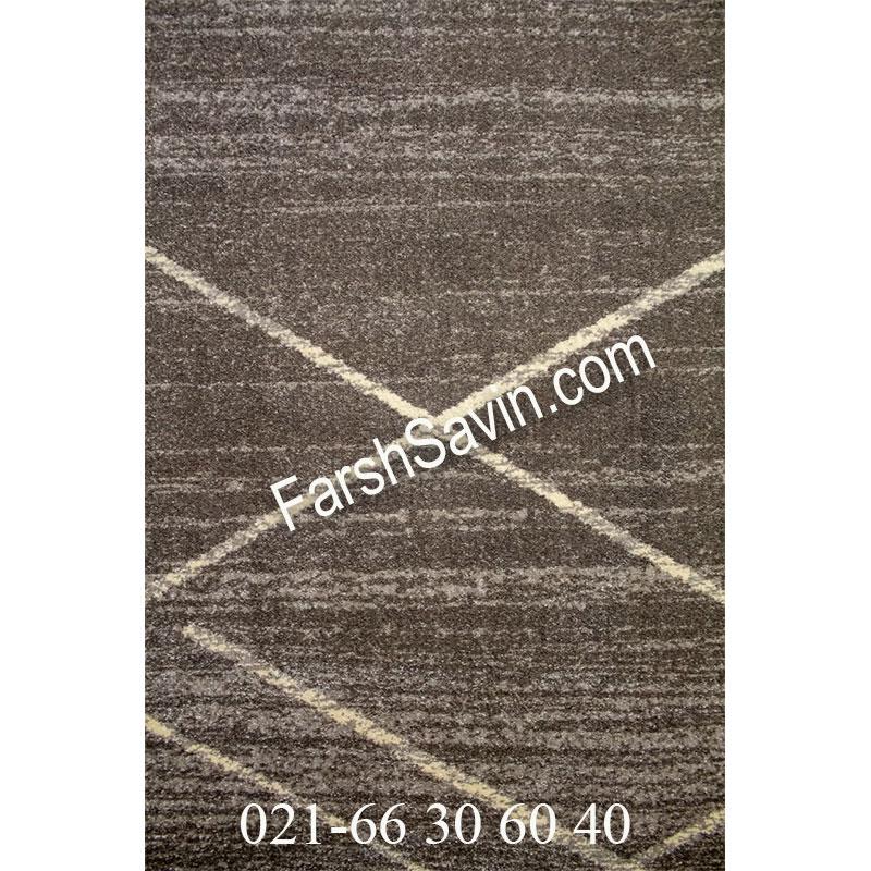 فرش ساوین 4083 طوسی فرش پرفروش