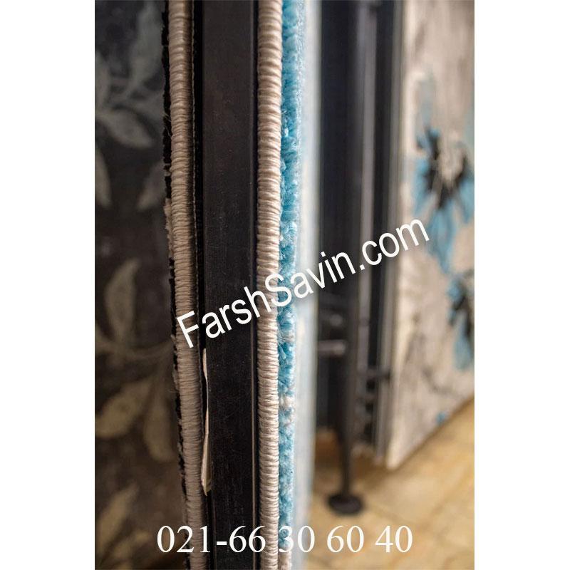 فرش ساوین 4089 آبی فرش پذیرایی