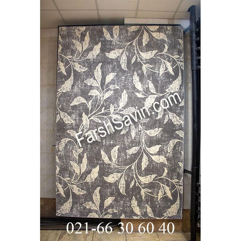 فرش ساوین 4089 طوسی فرش با دوام