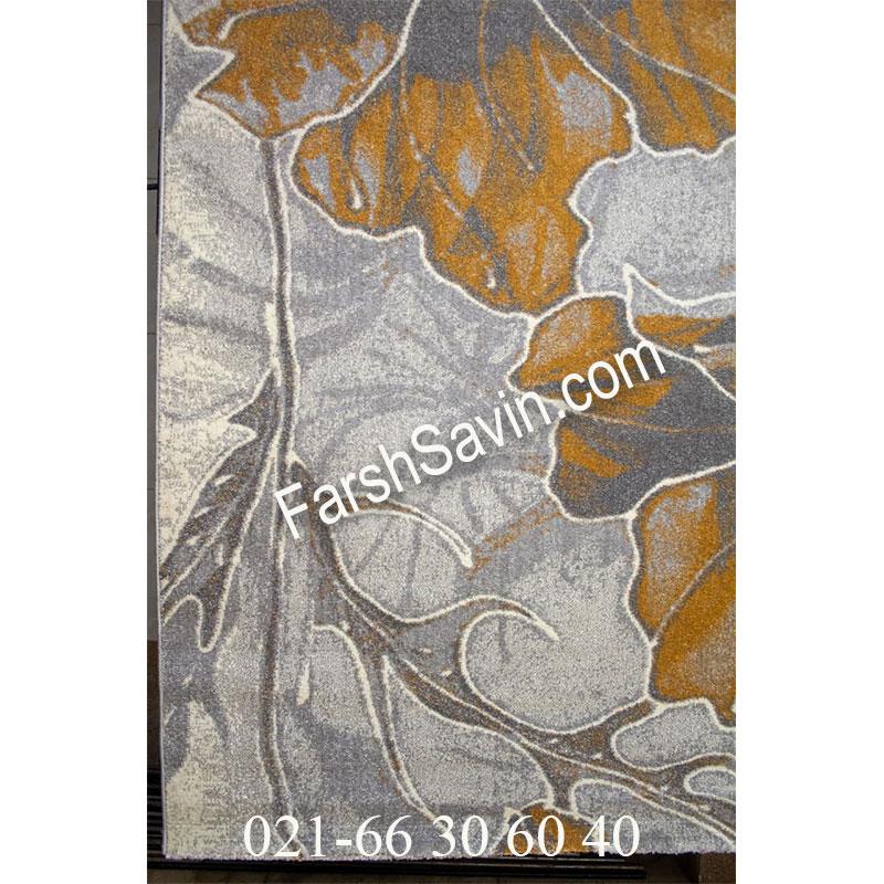 فرش ساوین 4090 عسلی فرش اتاق خواب