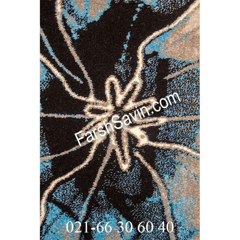 فرش ساوین 4090 آبی فرش با کیفیت