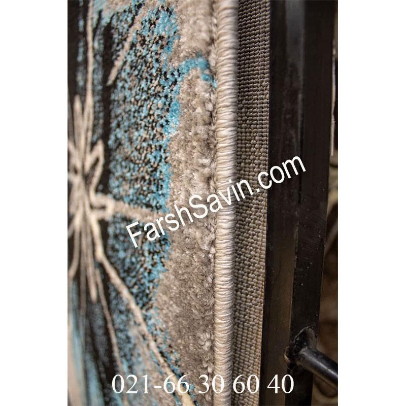 فرش ساوین 4090 آبی فرش خوشگل