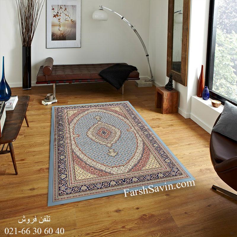 فرش ساوین 4500 آبی فرش با کیفیت